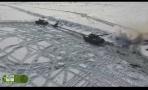 冰天雪地 俄罗斯装甲集群演练寒带作战模式
