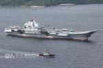 """台军方:进入台湾海峡航行一天后,辽宁舰今天中午12:30脱离""""防空识别区"""""""