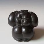 内力 8cm×8cm×8cm 乌金釉雕塑