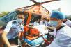 滨州起飞东营接患者济南降落 2小时3地直升机空运患者转院