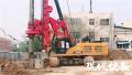 南京地铁7号线新进展 尖山路口站围护桩施工火热进行