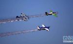 特技飞机空中炫酷翻转 日照通用航空产业博览会开幕