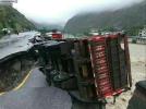 暴雨致汶川茂县部分道路路面塌陷 无人员伤亡