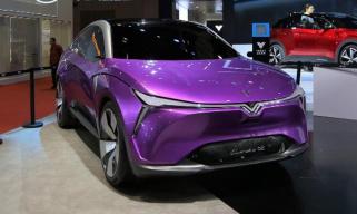 2019上海车展:实拍合众全新概念车Eureka 02