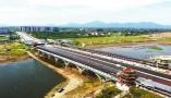 河南驻马店:练江湖大桥稳步推进