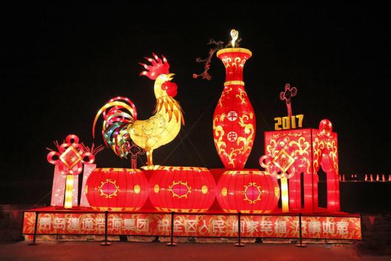 春节去青岛西海岸看花灯啦 54组花灯璀璨亮相