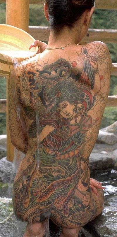 日本的纹身文化 大开眼界