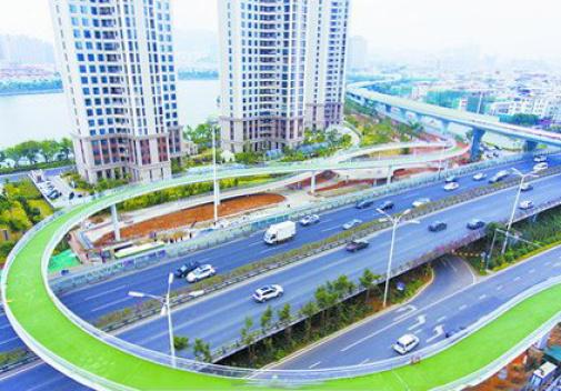 世界最长的空中自行车道建成待开放 厦门再现厦门速度
