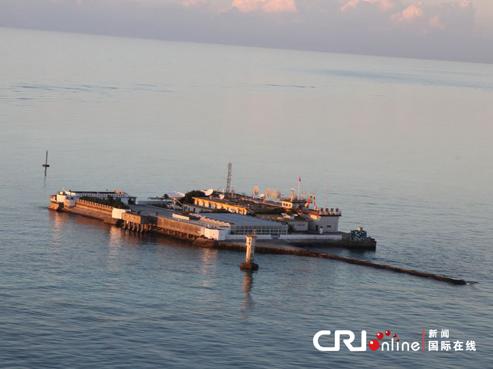 南海中国的岛礁上开展工程