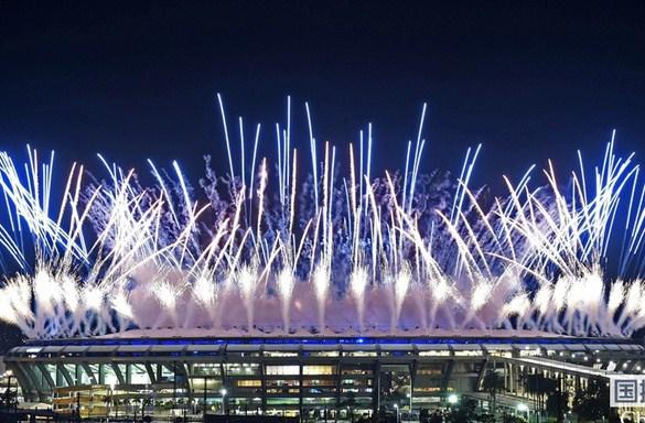 奥运开幕式烟花表演美不胜收