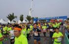 盘锦红海滩国际马拉松赛鸣枪 万人湿地风光中奔跑
