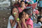 印度尼西亚巴厘岛灾民的生活
