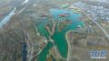 航拍的河南省鹤壁市淇河国家湿地公园
