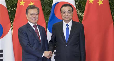 李克强会见韩国总统