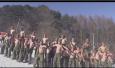 韩美士兵雪地混合训练 脱光衣物赤身肉搏