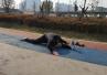 郑州70岁大爷公园玩一字马 动作娴熟优美