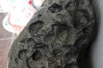 温州一男子捡到怪石表面许多孔洞,是陨石?专家:可能是陨石