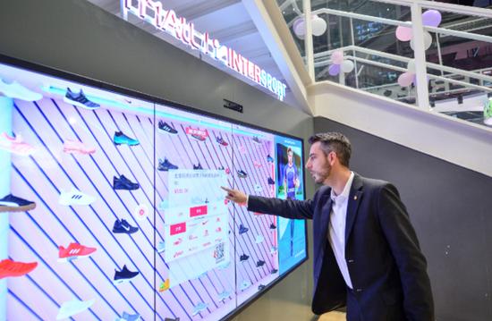 天猫和Intersport推出超级智慧门店 推出智能云货架