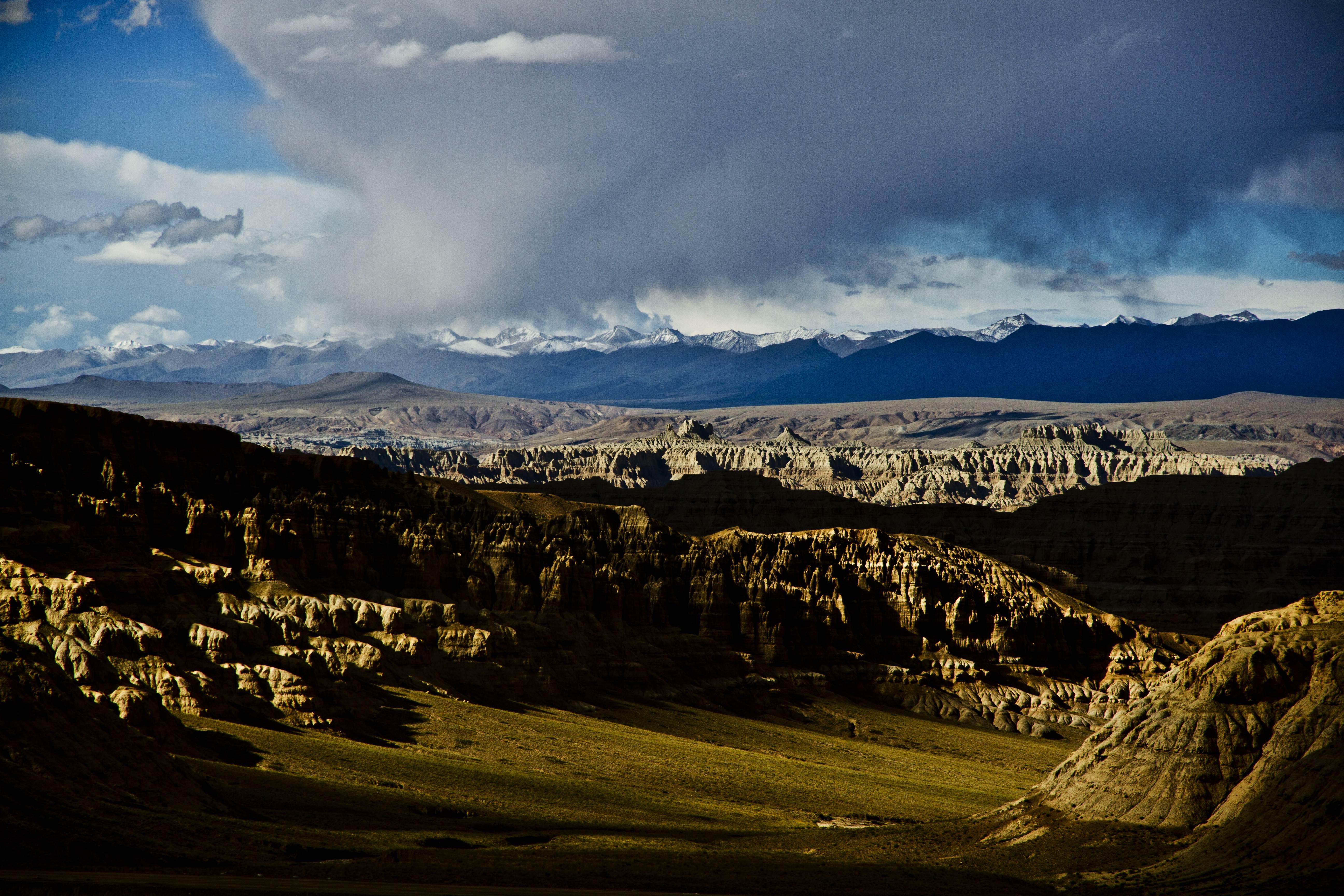 西藏阿里 俯瞰札达土林 罕见地质奇观