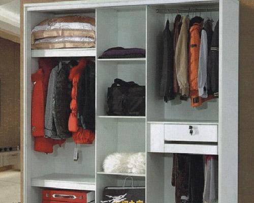 衣柜的内部结构图 按照这样放衣物,整齐归一,摆放和拿取都很方便.