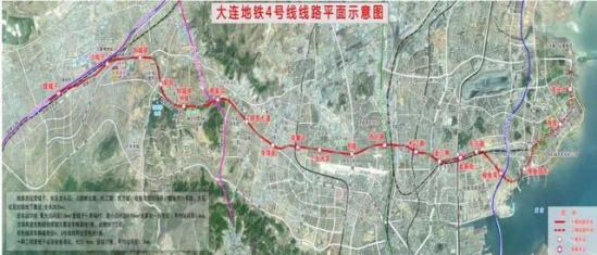 大连地铁4号线2021年试运营 长度 23.434km图片