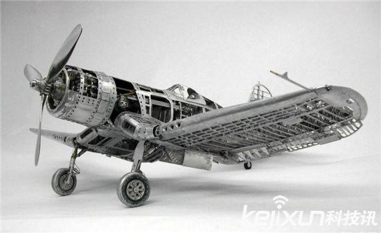 过瘾!超级逆天二战战机模型:细到铆钉能看清