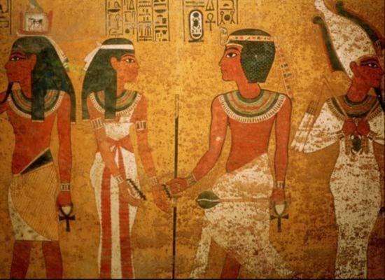 原文配图:古埃及法老王图坦卡蒙的墓室.-埃及法老王墓中藏密室 疑图片