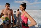 俄罗斯的冬泳爱好者