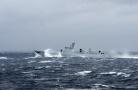 解放军3艘052D舰实弹射击猛烈开火 场面震撼