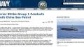 南海特朗普上台后美军核动力航母编队首次驶入南海