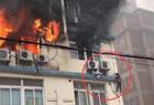 大楼起大火惊险逃生