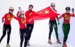 短道速滑韩国队干扰中国队被判犯规 决赛中国队夺冠