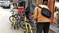 北京市10条共享单车禁停大街施划4处专用停车点 专用停车点难寻