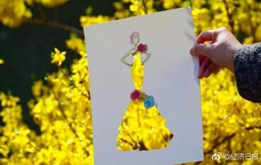 惊艳!把美景穿在身上,你想要一条这样的花裙子吗?