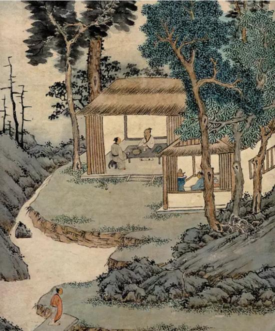 古代18幅饮茶图,古人的悠闲慢生活