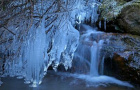 岩溶洞瀑布结冰瀑