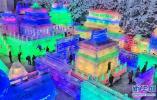 北京延庆第32届龙庆峡冰灯艺术节开幕