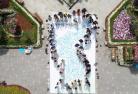 韩国儿童手印半岛旗送祝福