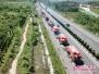 不用铣刨路面 济南高速公路养护首次使用就地热再生技术