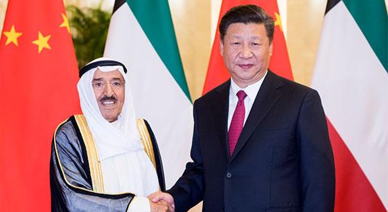 习近平举行仪式欢迎科威特埃米尔萨巴赫访华