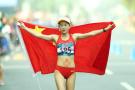 亚运九连冠!中国包揽女子竞走20公里冠亚军
