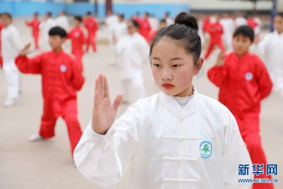 """河南温县:传承国粹 """"武""""动校园"""