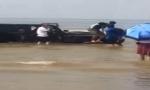 端午节鲅鱼圈吉普车瞬间沉海 千万不要开车去海边