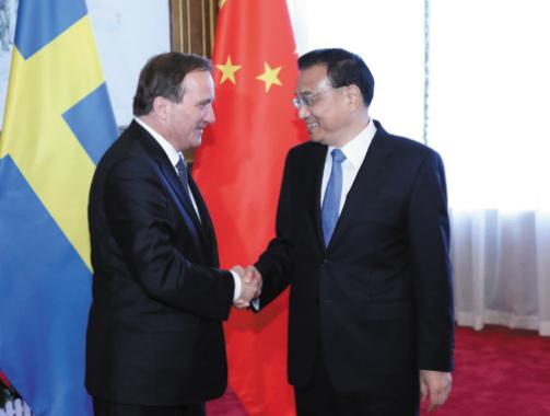 李克强同瑞典首相勒文在连举行会谈