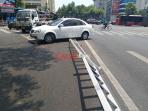 突发!今天中午杭州一送煤气罐的小哥在送货途中发生车祸!