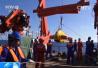 """""""科学""""号科考船在南海首次完成科考装备深海对接"""