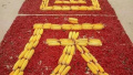红辣椒+玉米拼国旗 漯河农民用最特别的礼物献给祖国