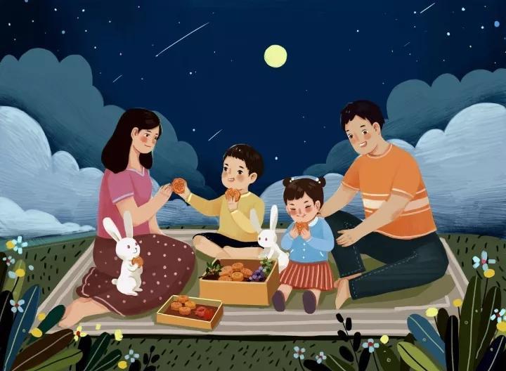 今日中秋:话说那些赏月,吃月饼的中秋习俗图片