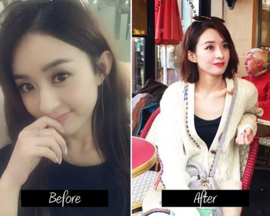 林允儿 赵丽颖 林依晨 难道剪短了头发就像减了龄一般的神奇感脚?图片