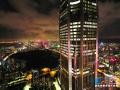 航拍深圳CBD夜景